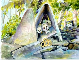 Skull Island, Vonavona Lagoon---Kindu Point