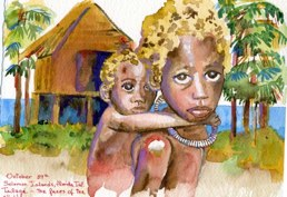 Tulaghi in Florida Islands Childrens Faces